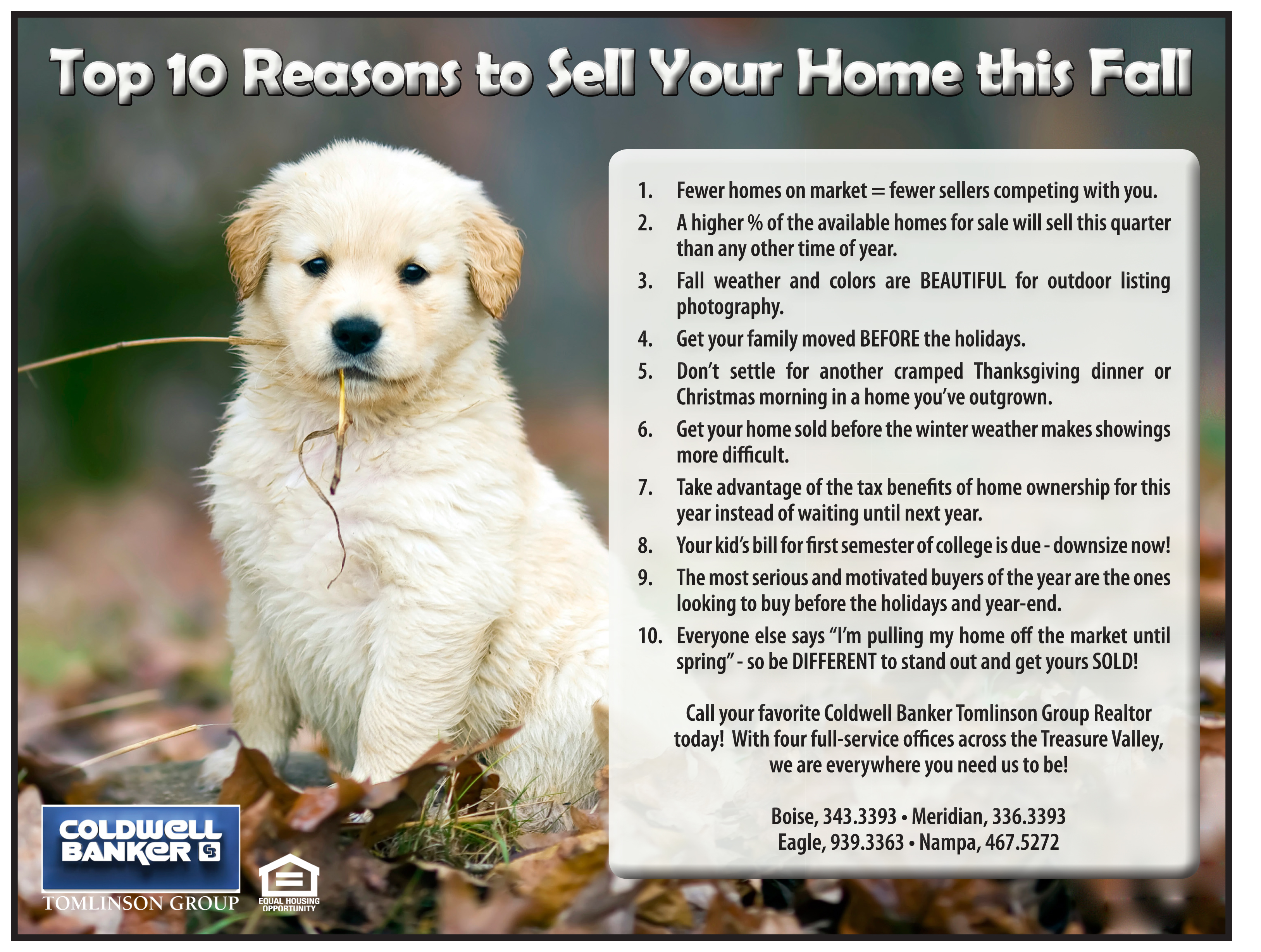 Top 10 Reasons to Sell in Fall - letter size